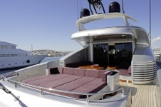 MY TOY -  Aft Deck Sunpads and al fresco dining